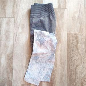 Lululemon Ebb to Train High Rise Tie Dye Leggings